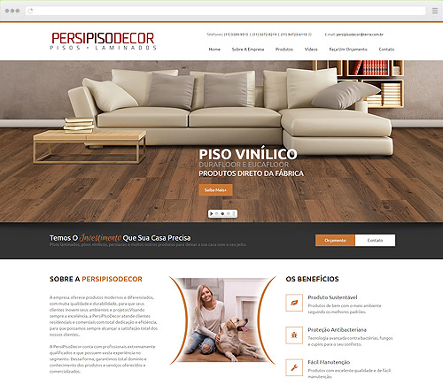 Criação de Sites - Persipiso Decor
