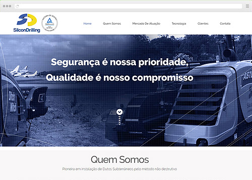 Criação de sites de One Page - Silcon Drilling