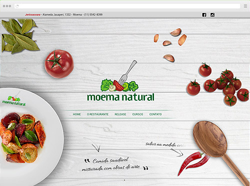 Criação de sites de Cursos - Moema Natural