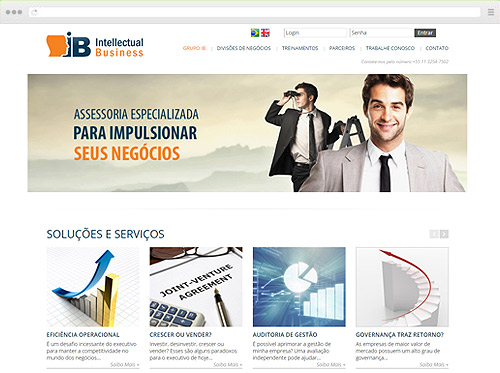 Criação de sites para Assessoria - Intellectual Business