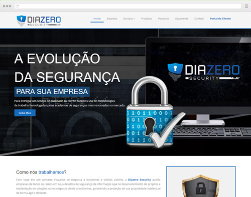 Criação de sites para Consultoria - Diazero Security