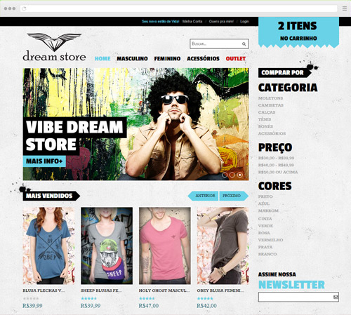 Criação de Sites - Dream Store